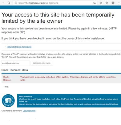 limited access screenshot for FAQ